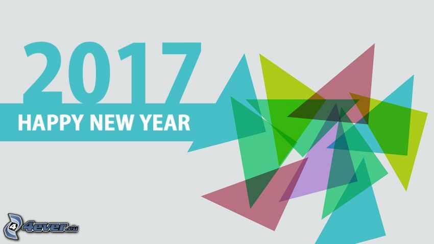 2017, Felice anno nuovo, happy new year, triangoli