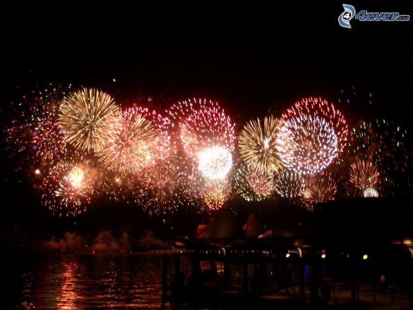 fuochi d'artificio sopra Sydney