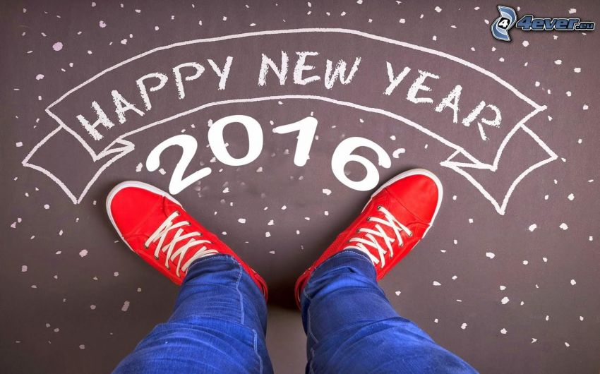 happy new year, 2016, gambe, Converse