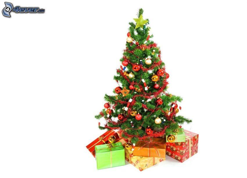 albero di Natale, regali