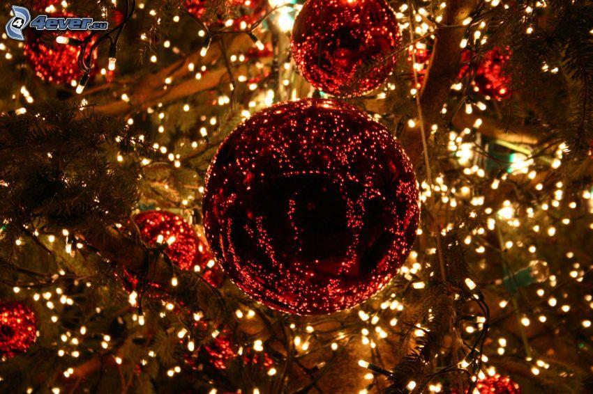 palle di Natale, albero di Natale