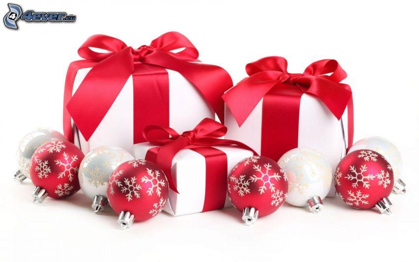 regali, palle di Natale