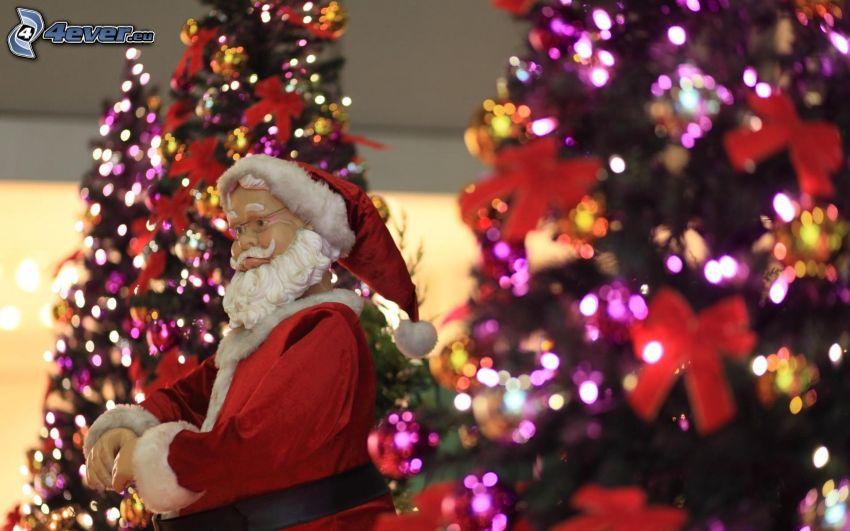 Santa Claus, albero di Natale