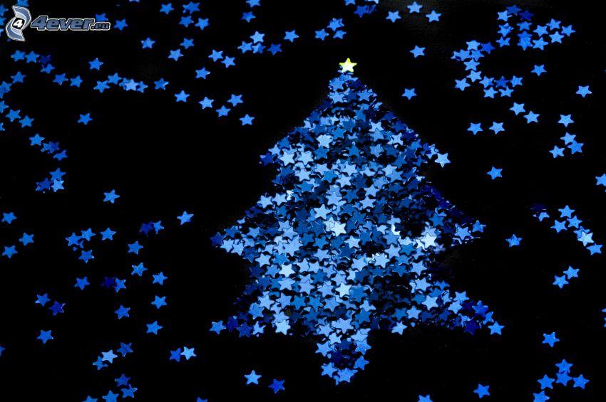 stelle, albero di Natale