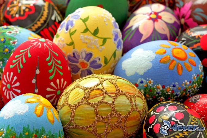 festett tojások, húsvéti tojások