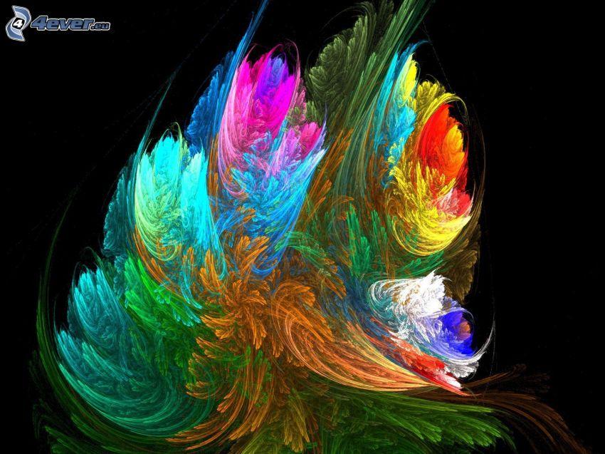 absztrakt, színek