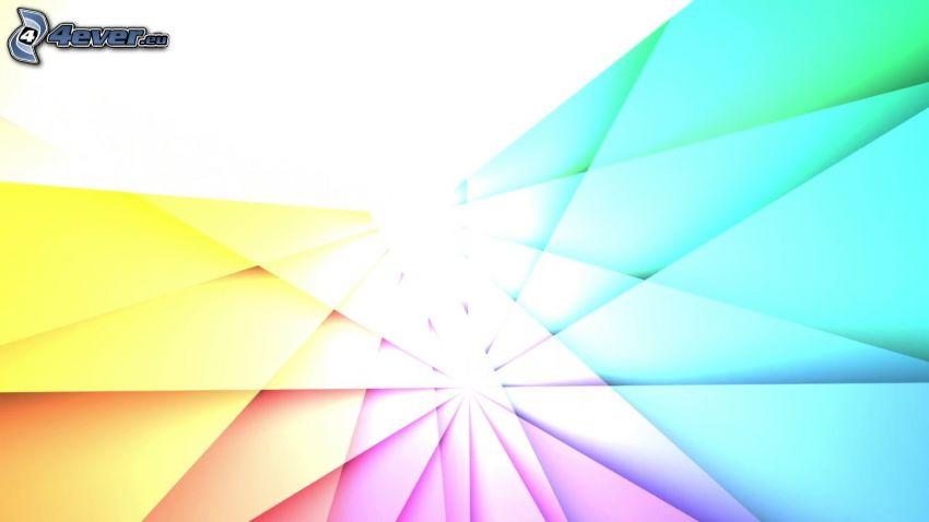 háromszögek, színek