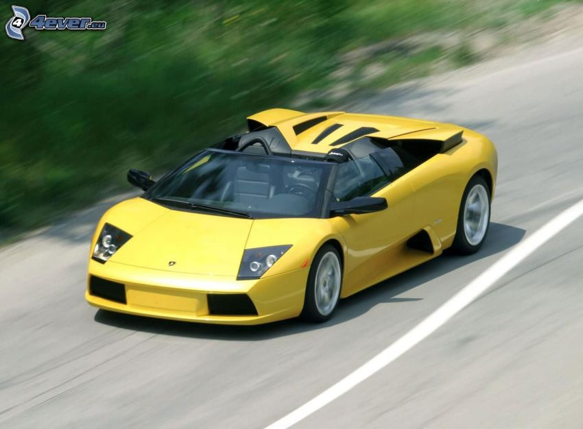 Lamborghini Murciélago, kabrió, sebesség
