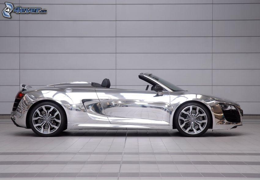 Audi R8 Spyder, kabrió, króm