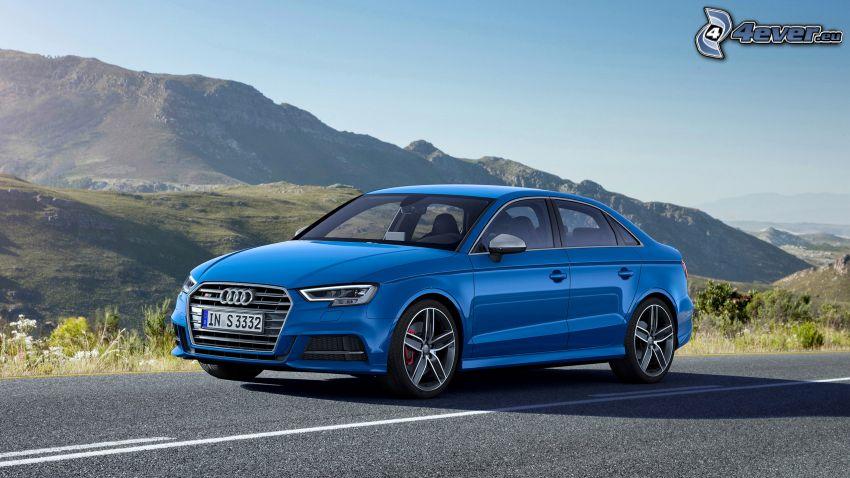 Audi S3, hegyvonulat, út