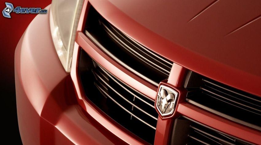 Dodge, hűtőrács, logo