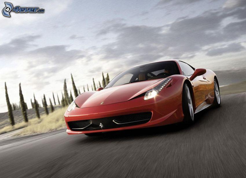 Ferrari 458 Italia, sebesség