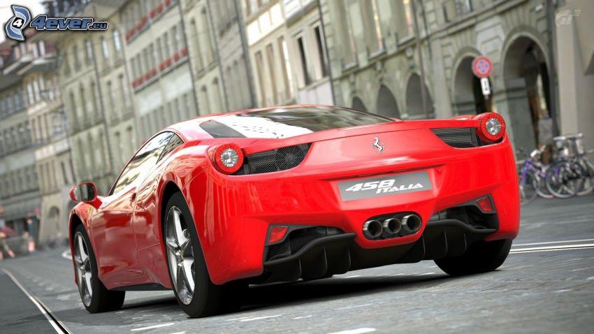 Ferrari 458 Italia, utca