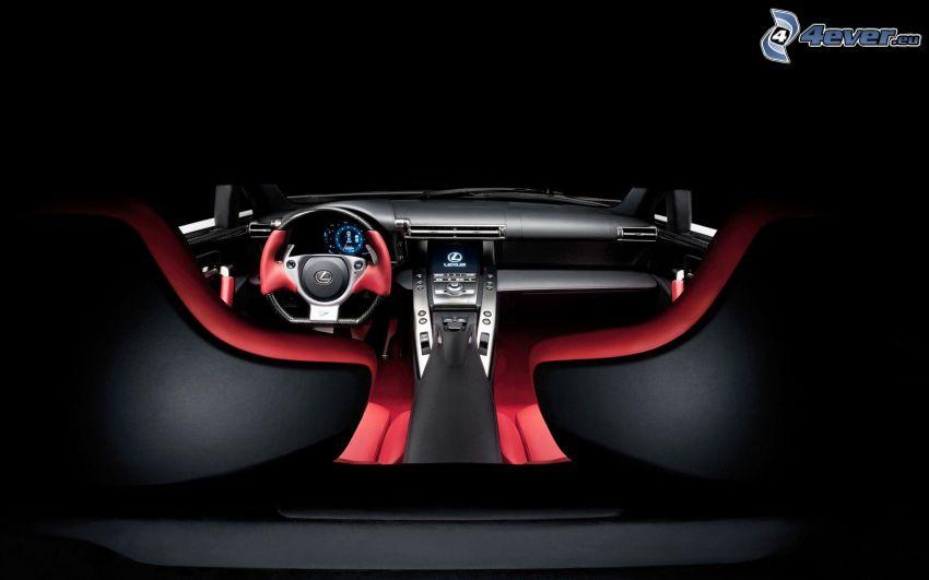 Lexus LFA, beltér, kormány