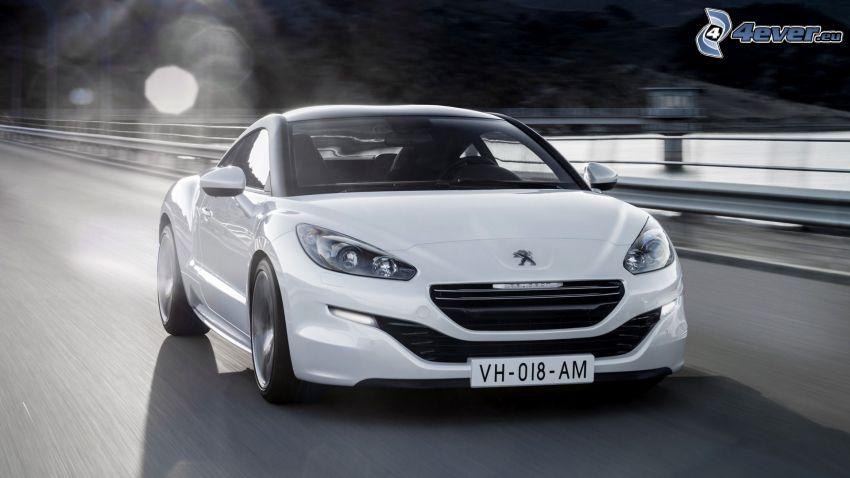 Peugeot RCZ, országút, sebesség