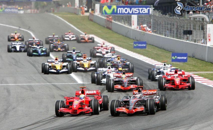 verseny, formula, versenykör