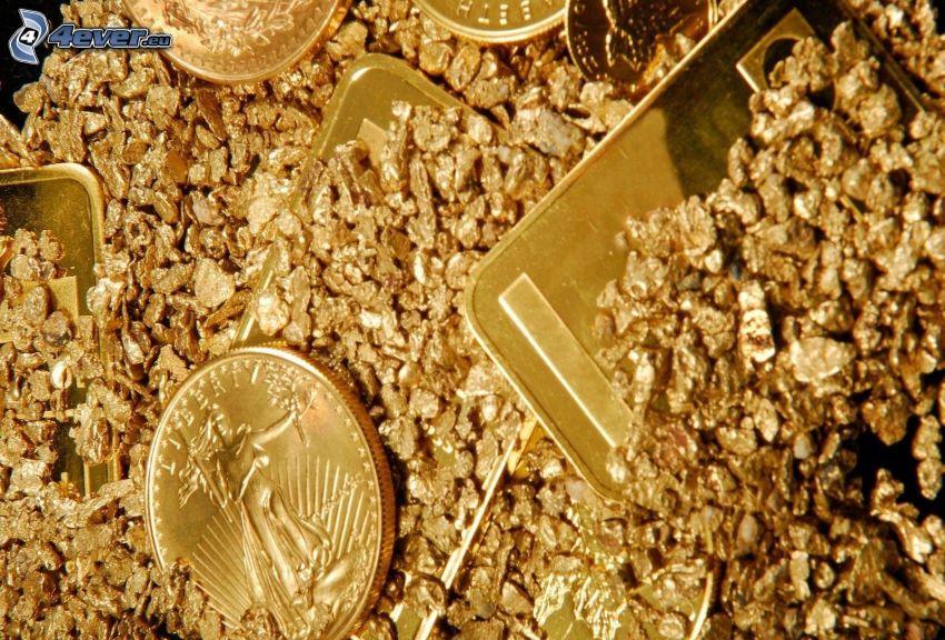 arany, érmék