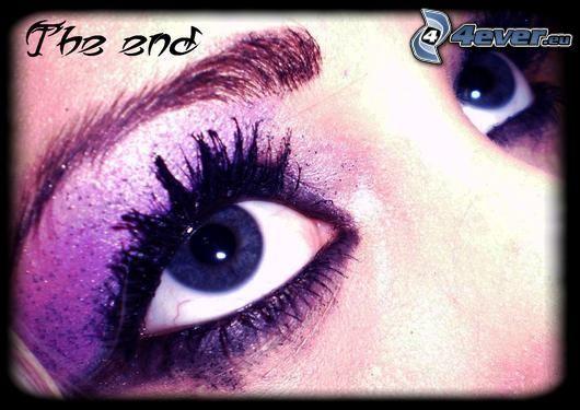arc, lila szem