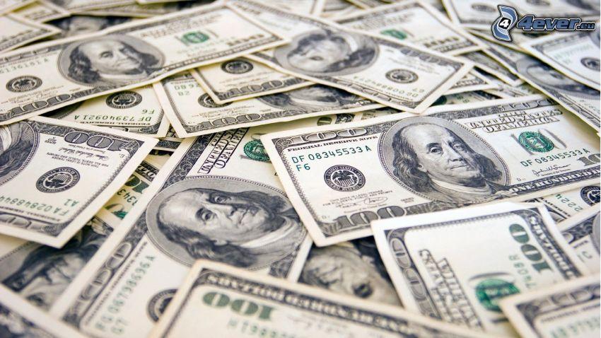 dollárok, pénz