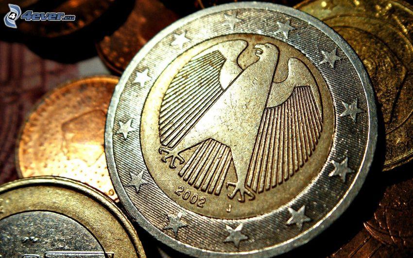 euro, érmék, Németország