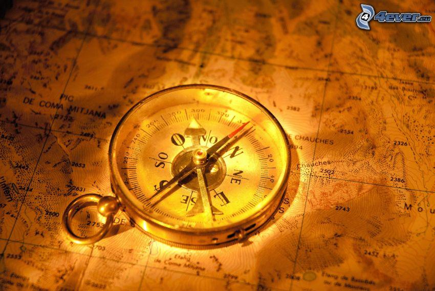 iránytű, térkép