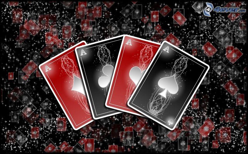kártyák, ászok
