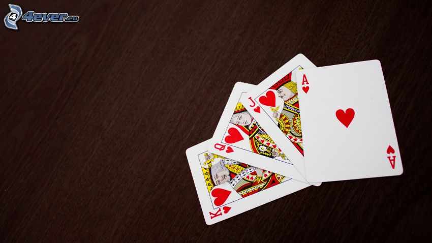 kártyák, szivecskék
