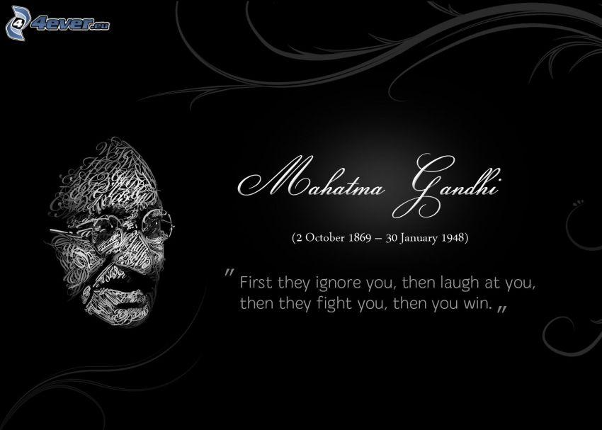 Mahatma Gandhi, idézet, arc