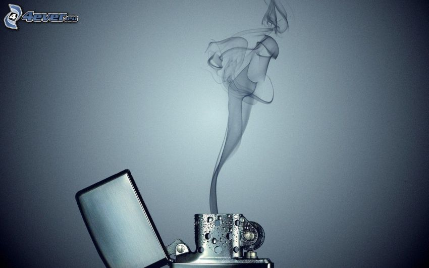 öngyújtó, füst