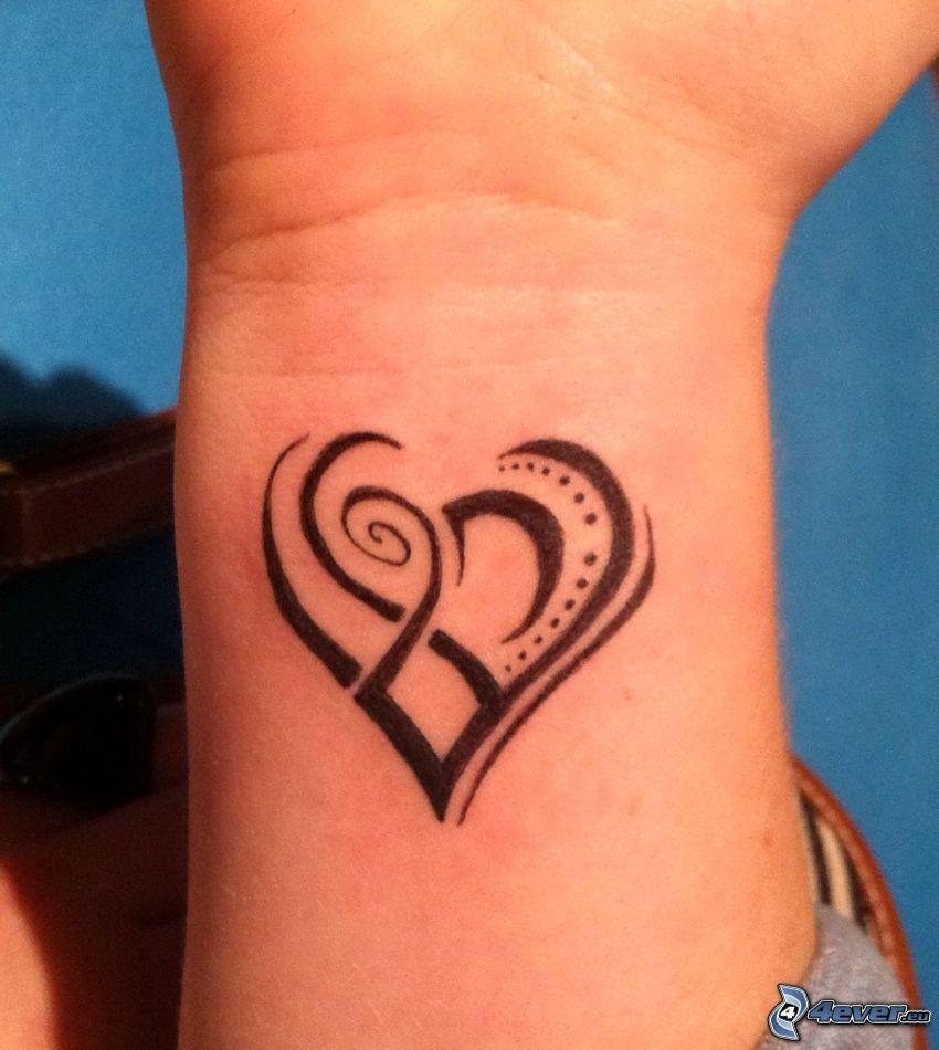 tetoválás, szív