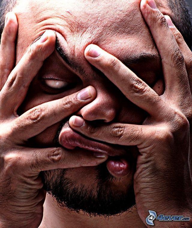 arc, kezek