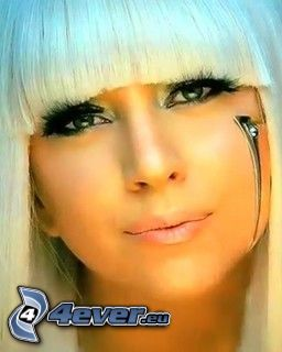 Lady Gaga, énekesnő, arc, szempilla