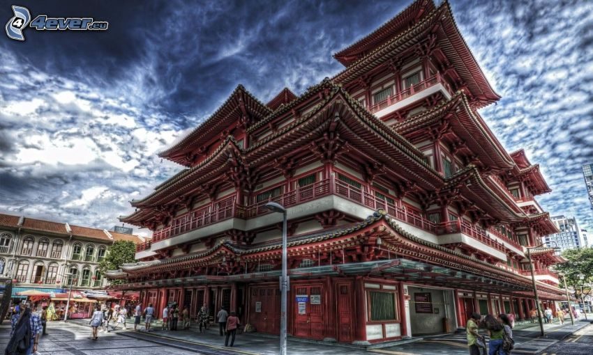 japán ház, HDR