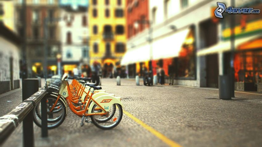 kerékpárok, utca
