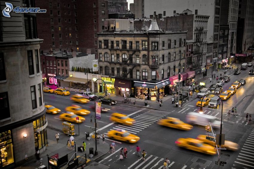 New York, csomópont, NYC Taxi