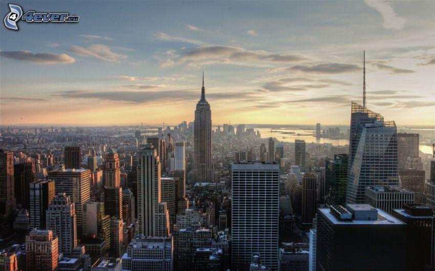 New York, felhőkarcolók