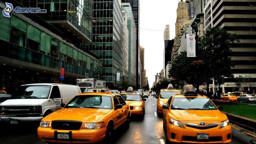 NYC Taxi, utcák, New York