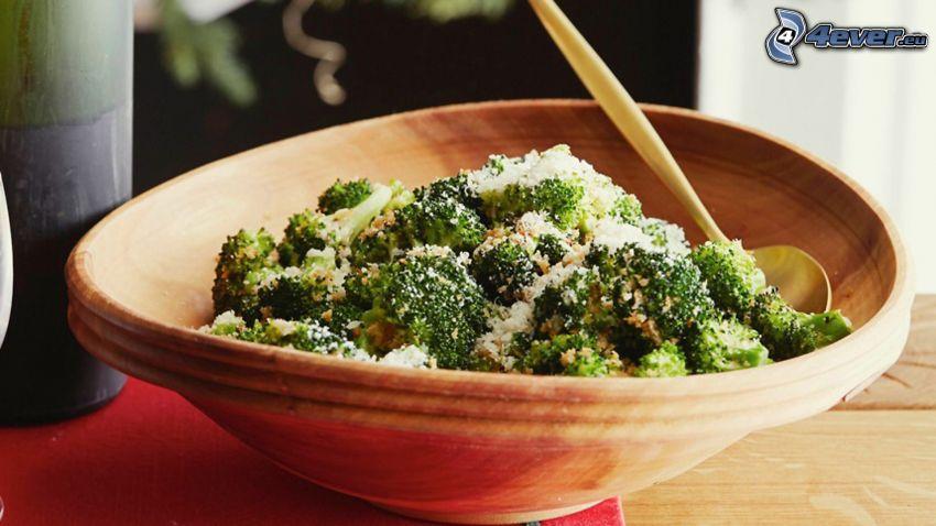 brokkoli, tál, ebéd