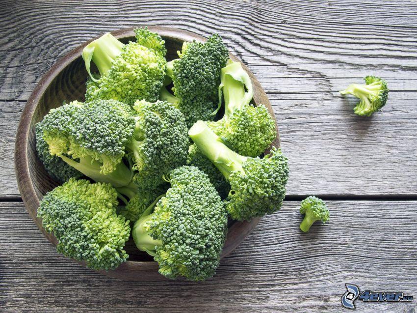 brokkoli, tál, fa