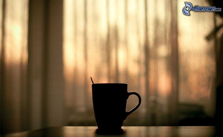 csésze, sziluett