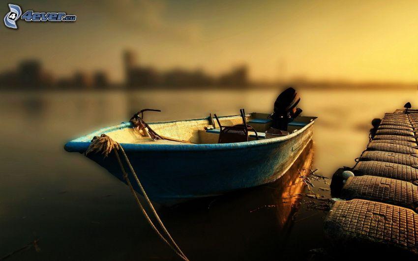csónak, móló
