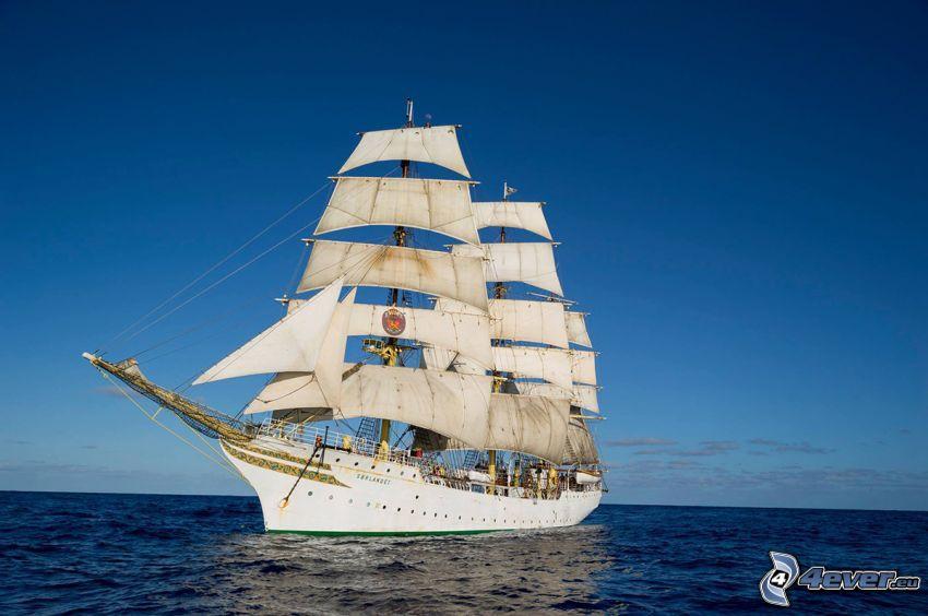 Sørlandet, vitorláshajó, nyílt tenger