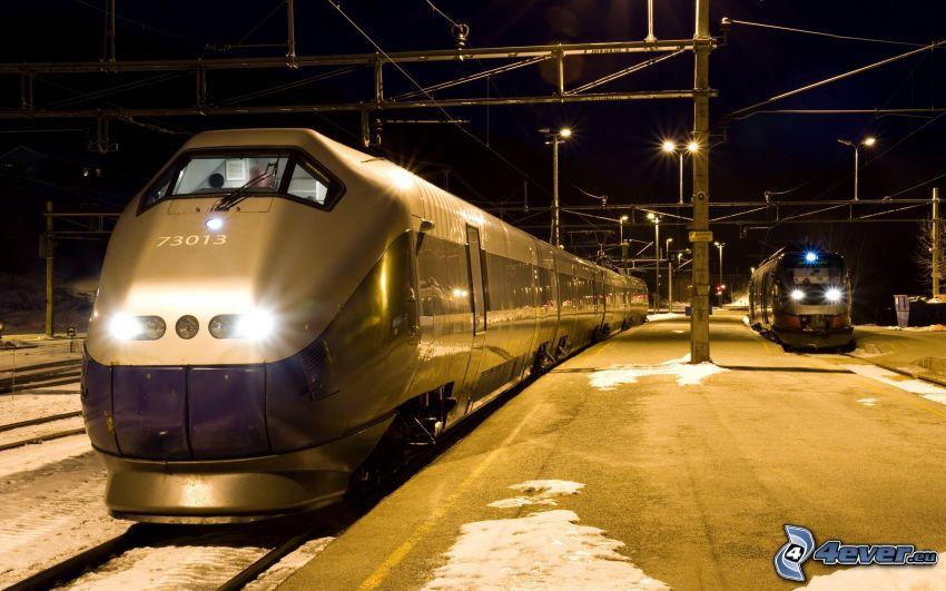 vasútállomás, vonatok