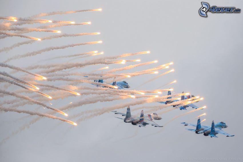vadászrepülőgépek, lövés