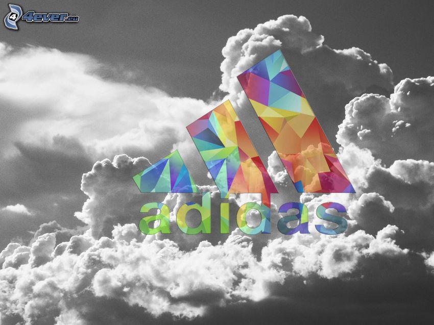 Adidas, felhők