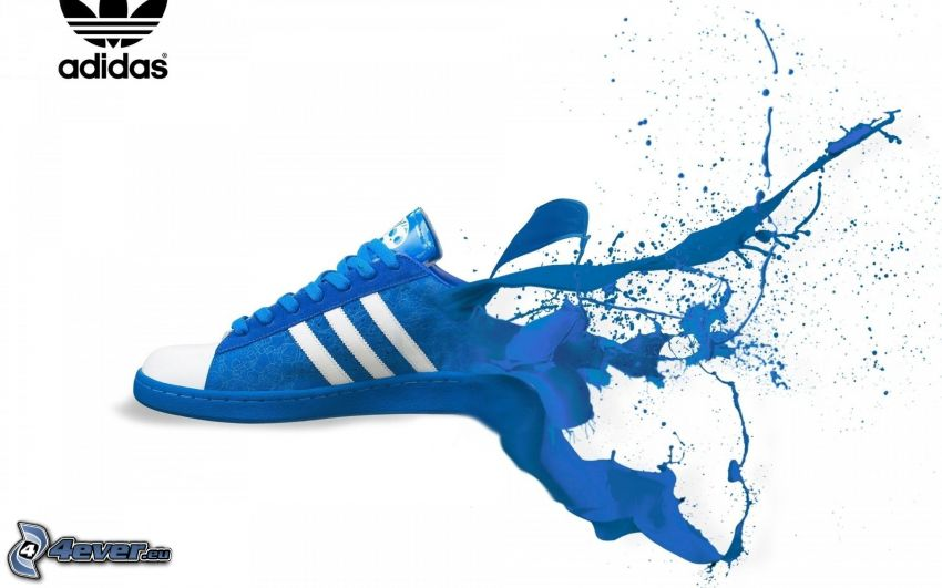 Adidas, logo, tornacipő, kék szín, paca