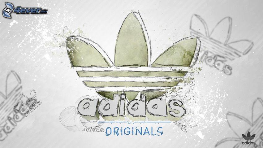 Adidas, rajzolt