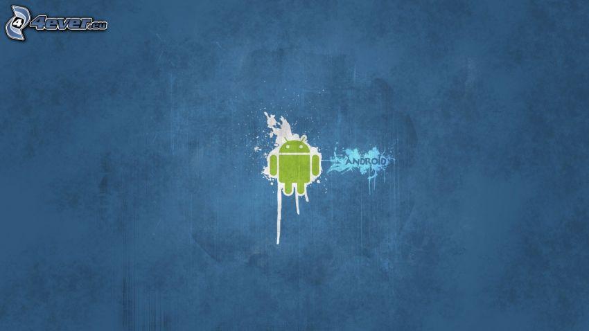 Android, kék háttér