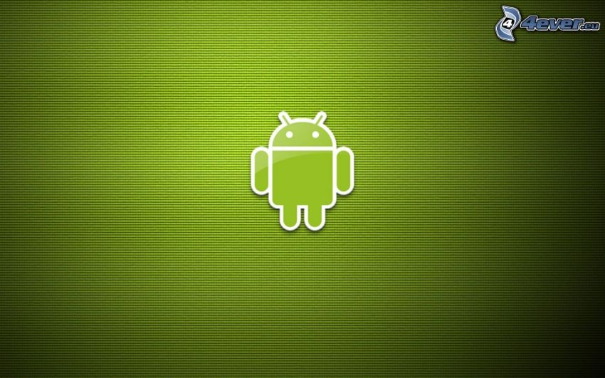 Android, zöld háttér
