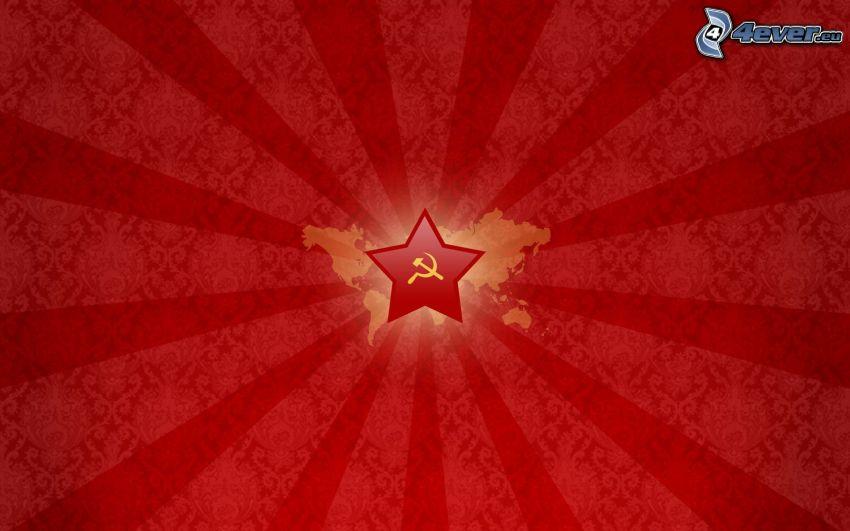 sarló és kalapács, csillag
